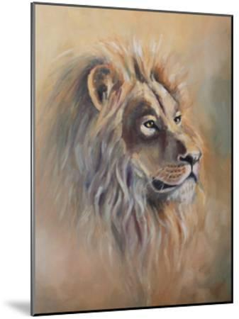 Lion 1-Lena Navarro-Mounted Art Print