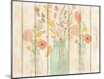 Summer Bloom Jars-Kimberly Allen-Mounted Art Print