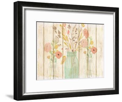 Summer Bloom Jars-Kimberly Allen-Framed Art Print