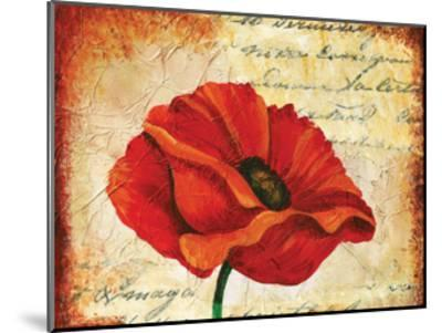 Poppy Script-May May-Mounted Art Print