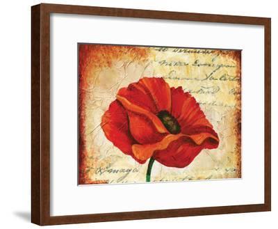 Poppy Script-May May-Framed Art Print