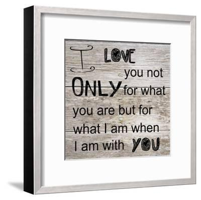 I Love Only You-Sheldon Lewis-Framed Art Print