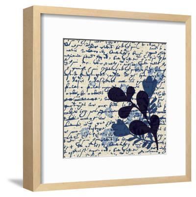 Indigo Squares Textured 1-Melody Hogan-Framed Art Print