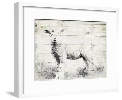 Vintage Lamb-Jace Grey-Framed Art Print