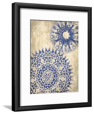 Coastal Indigo Pattern Third-Jace Grey-Framed Art Print
