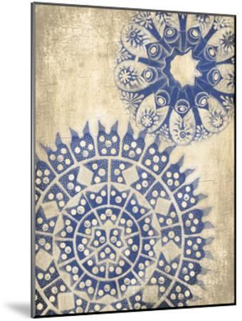 Coastal Indigo Pattern Third-Jace Grey-Mounted Art Print