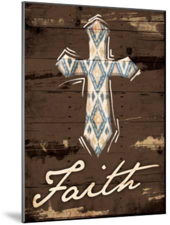 Faith Cross-Jace Grey-Mounted Art Print