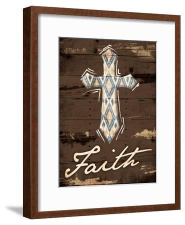 Faith Cross-Jace Grey-Framed Art Print