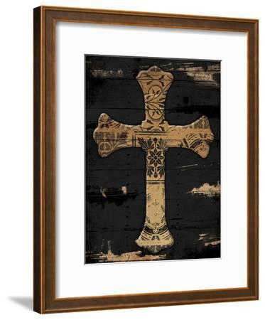 Gold Cross 2-Jace Grey-Framed Art Print