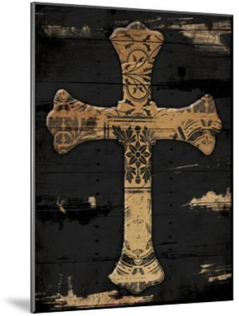 Gold Cross 2-Jace Grey-Mounted Art Print
