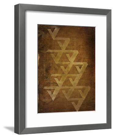 Geo Gold 2-Kimberly Allen-Framed Art Print