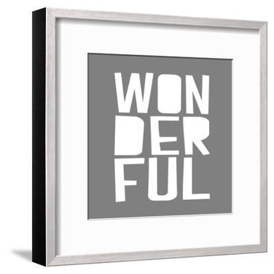 Wonderful GREY-Gigi Louise-Framed Art Print