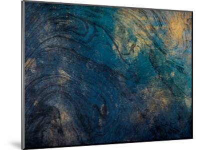 Golden Blue Marble-Jace Grey-Mounted Art Print