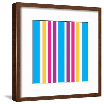 Groovy Love Pattern-Kimberly Allen-Framed Art Print