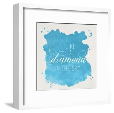 Diamond Sky Blue-Gigi Louise-Framed Art Print