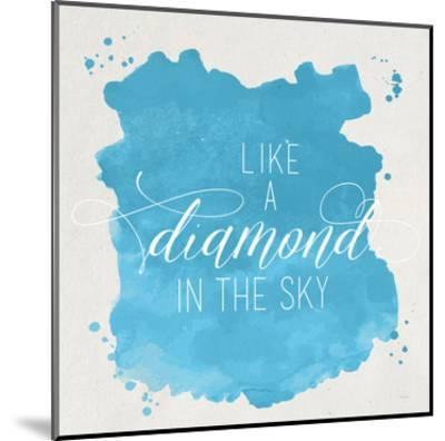 Diamond Sky Blue-Gigi Louise-Mounted Art Print