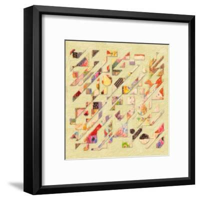 Abstract Quilt I-Taylor Greene-Framed Art Print
