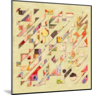 Abstract Quilt I-Taylor Greene-Mounted Art Print