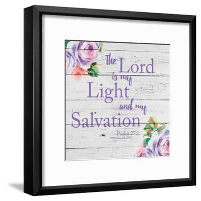 Light-Victoria Brown-Framed Art Print