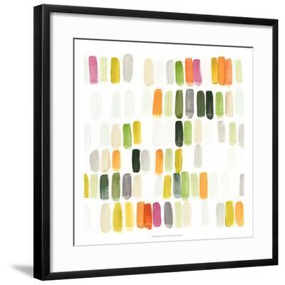Colorful Swatches II-Julie Silver-Framed Giclee Print