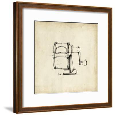 Office Supply Sketch I-Julie Silver-Framed Giclee Print