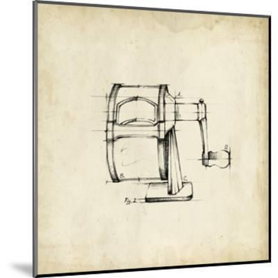 Office Supply Sketch I-Julie Silver-Mounted Giclee Print