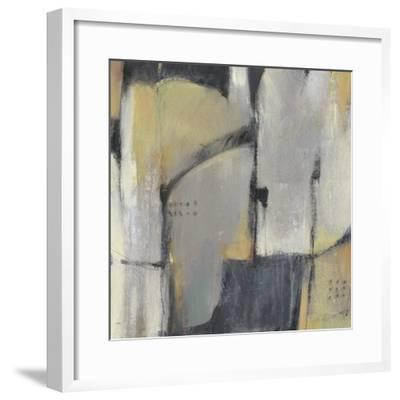 Peaceful Abstract I-Julie Silver-Framed Giclee Print