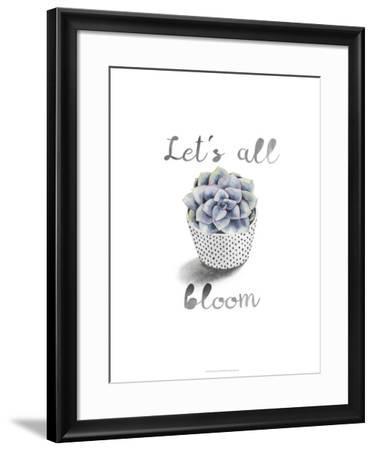 Succulent Life I-Julie Silver-Framed Giclee Print
