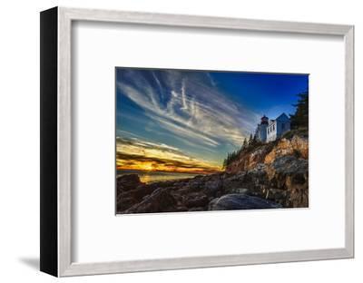 Bass Harbor Lighthouse-Robert Lott-Framed Art Print