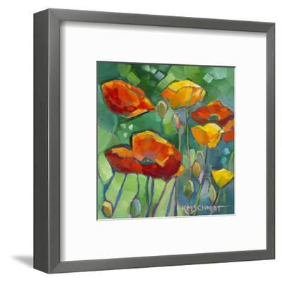 Poppy Dance-Karen Mathison Schmidt-Framed Art Print