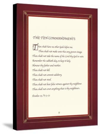 The Ten Commandments-The Inspirational Collection-Stretched Canvas Print
