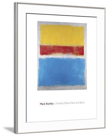 Untitled (Yellow, Red and Blue)-Mark Rothko-Framed Giclee Print