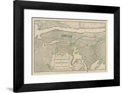 Plan of New York-The Vintage Collection-Framed Giclee Print