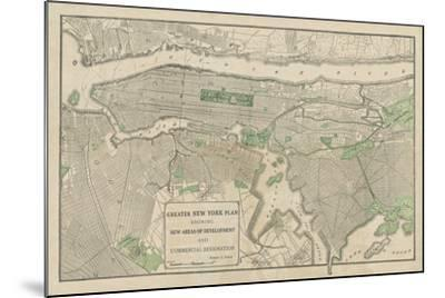 Plan of New York-The Vintage Collection-Mounted Giclee Print