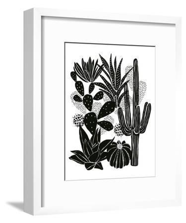 Monochrome Cacti-Myriam Tebbakha-Framed Art Print