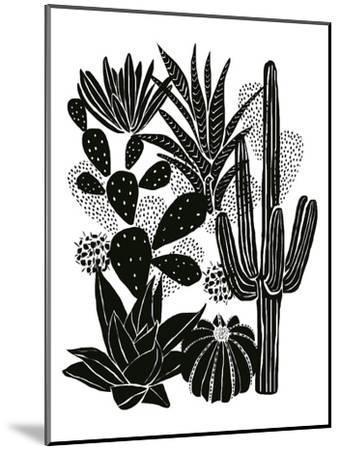 Monochrome Cacti-Myriam Tebbakha-Mounted Art Print
