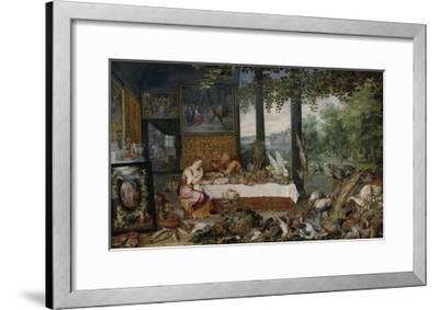 The Five Senses - Taste-Peter Paul Rubens-Framed Premium Giclee Print