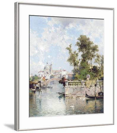 View of Rio Ognissanti with Church of Gesuati beyond-Franz Richard Unterberger-Framed Premium Giclee Print
