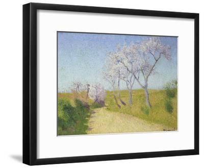La Route de Limoux a Alete-les-Bains-Achille Lauge-Framed Premium Giclee Print