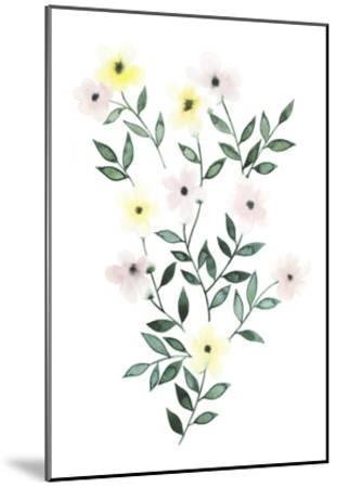 Trellis Flowers I-Grace Popp-Mounted Art Print