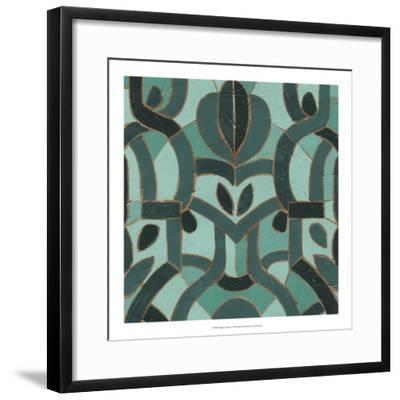 Turquoise Mosaic I-June Erica Vess-Framed Giclee Print