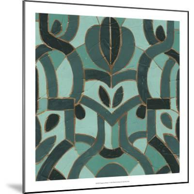 Turquoise Mosaic I-June Erica Vess-Mounted Giclee Print