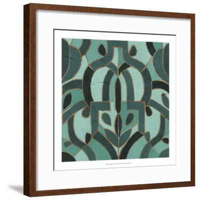 Turquoise Mosaic IV-June Erica Vess-Framed Giclee Print