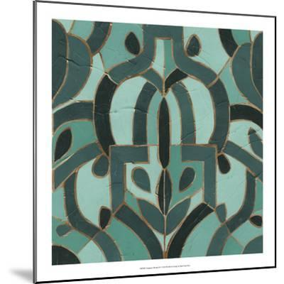 Turquoise Mosaic IV-June Erica Vess-Mounted Giclee Print