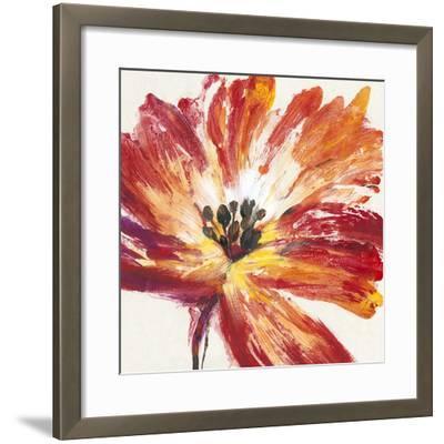 Fleur Rouge I-Tim O'toole-Framed Art Print
