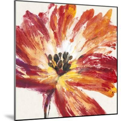 Fleur Rouge I-Tim O'toole-Mounted Art Print