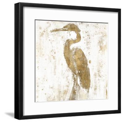 Gilded Heron II-Jennifer Goldberger-Framed Art Print