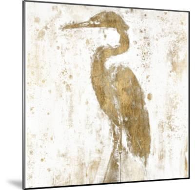 Gilded Heron II-Jennifer Goldberger-Mounted Art Print