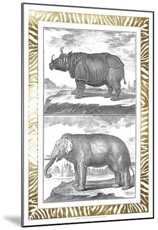 Gilded Safari I-Denis Diderot-Mounted Art Print