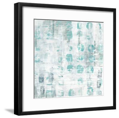 Blue Static IV-June Erica Vess-Framed Art Print